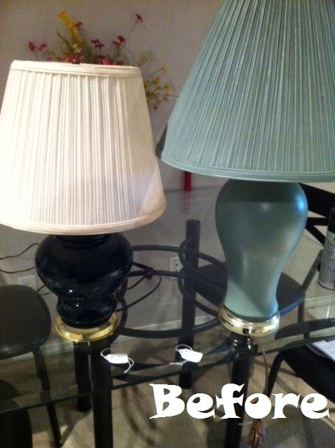 lamps before