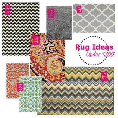 Rug Ideas Under $200!