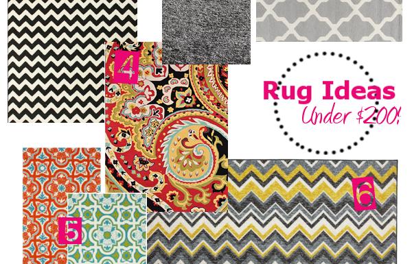 rug ideas under 200