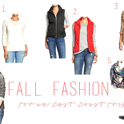 Fall Fashion: For an East Coast Trip