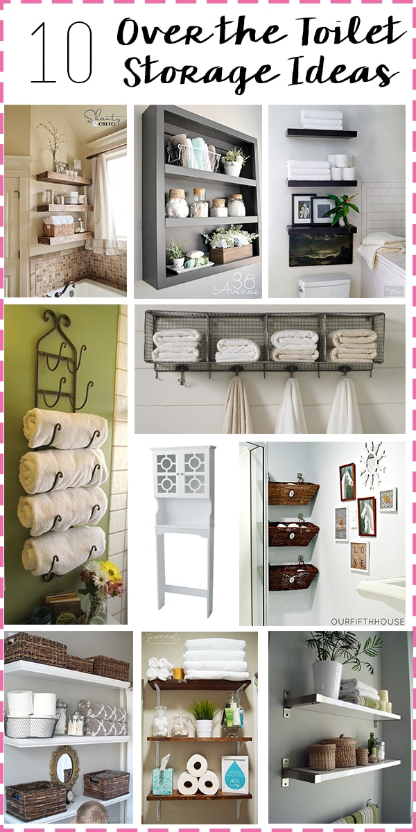 Bathroom Storage: Over the Toilet // diy bathroom storage ideas for over the toilet