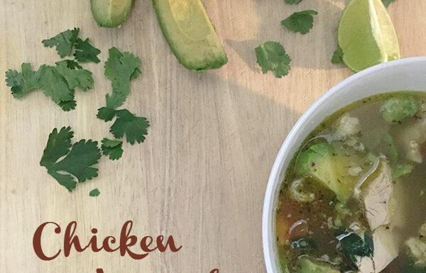 Chicken Avocado Soup // amber-oliver.com