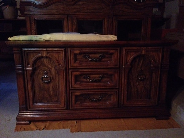 China Cabinet BEFORE //amber-oliver.com