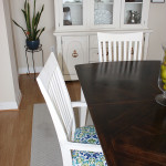 Dining room table and china cabinet redo //amber-oliver.com