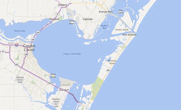 Corpus Christi map // amber-oliver.com