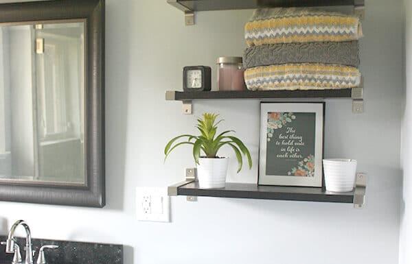 Bathroom shelves // amber-oliver.com