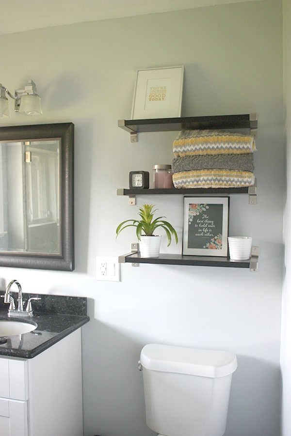 Bathroom shelves // amber-oliver.com