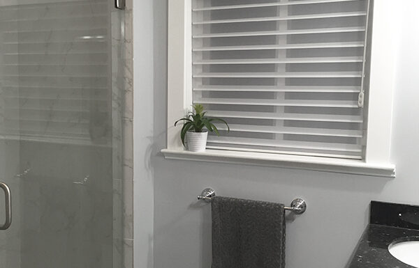 New Blinds from Blinds.com in Master bathroom of #OliverHQ
