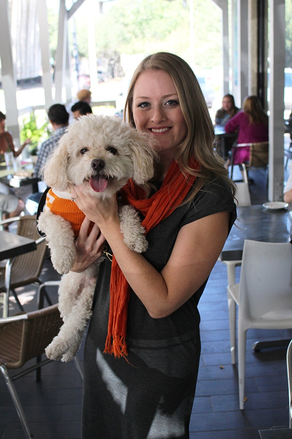 Amber and Barkley the Houston Dog / @TailsOfBarkley at Doggies Who Brunch