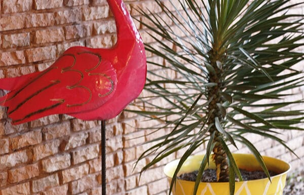 Pineapple Planter and Flamingo