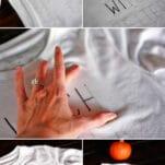 How to make a DIY Halloween T-Shirt using a sharpie | Amber-Oliver.com