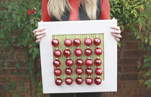 Advent Calendar with Mini Ornaments