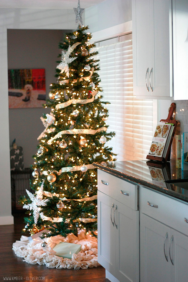 View of the Christmas Tree from the kitchen