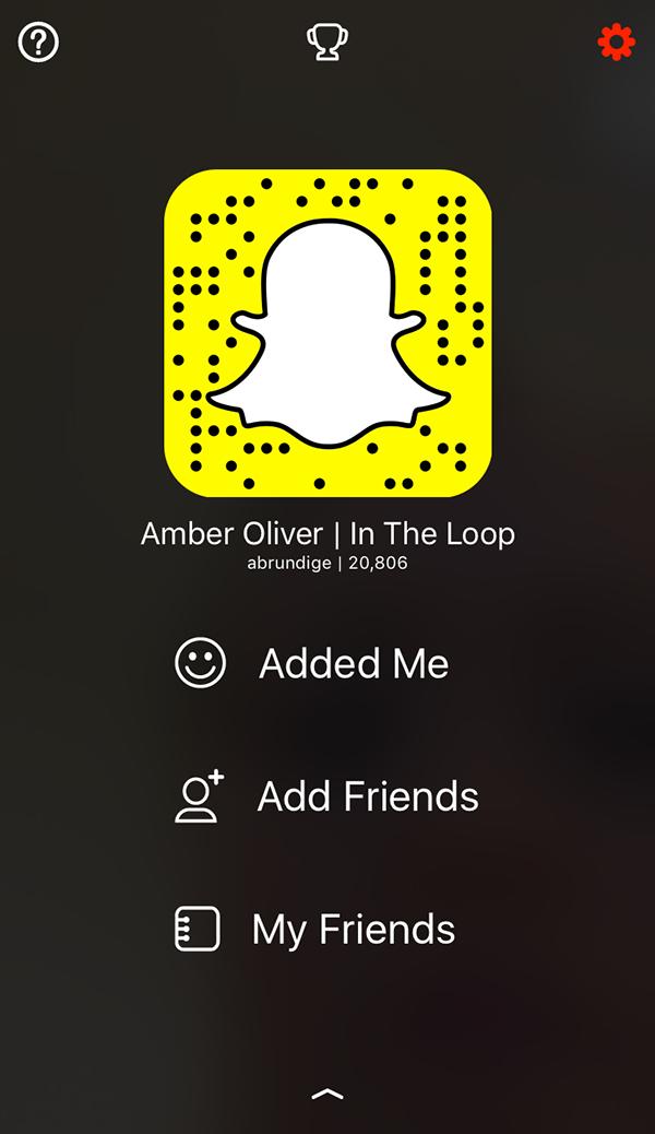 Amber Oliver SnapChat Screenshot