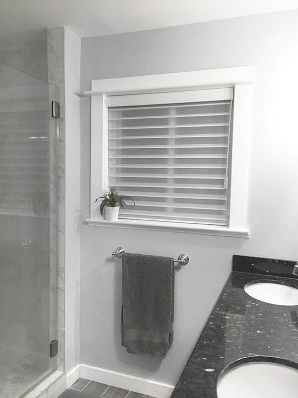 Master Bath Update - New Sheer Blinds from Blinds.com