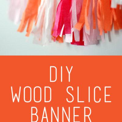 Wood Slice Banner