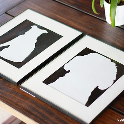 How to create a silhouette using the Silhouette Cameo