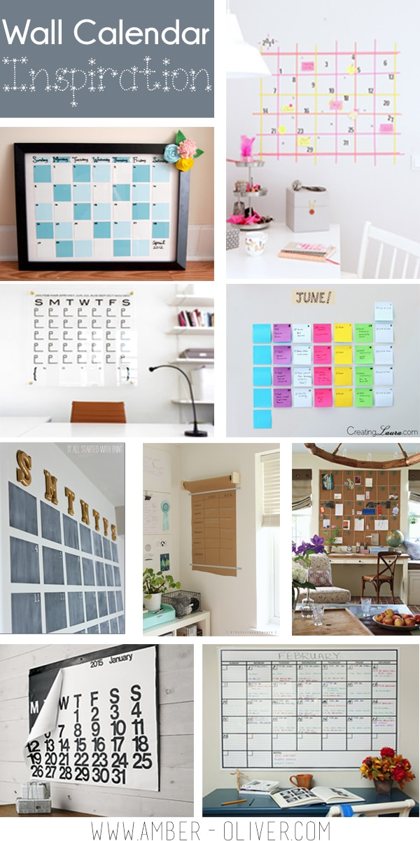 Wall Calendar Inspiration by Amber Oliver