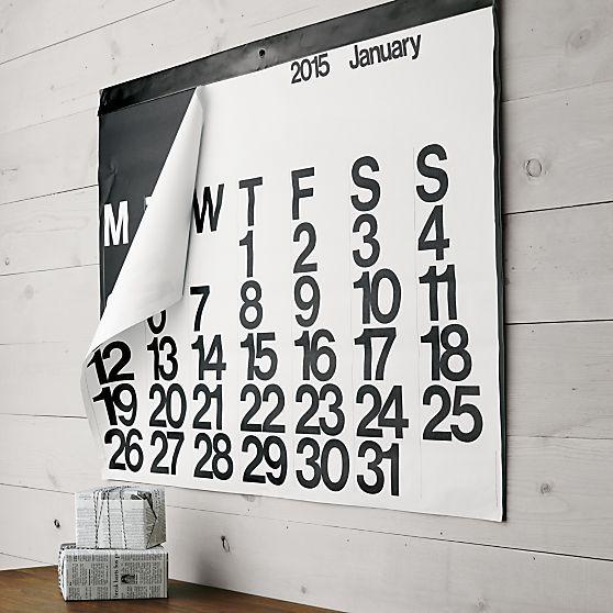 Paper calendar by Stendig http://stendigcalendar.com/Stendig_Calendar/Welcome.html
