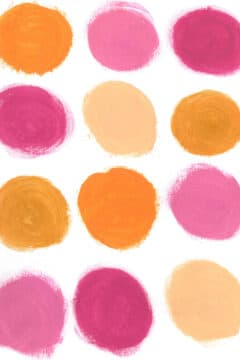 Pink Brush Circles Background iPhone