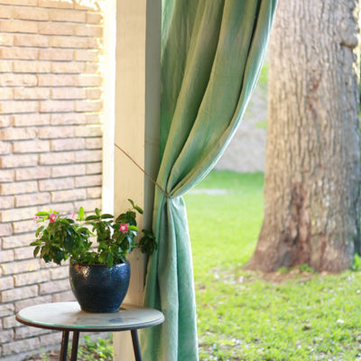 DIY Patio Curtains using Fabric Dye
