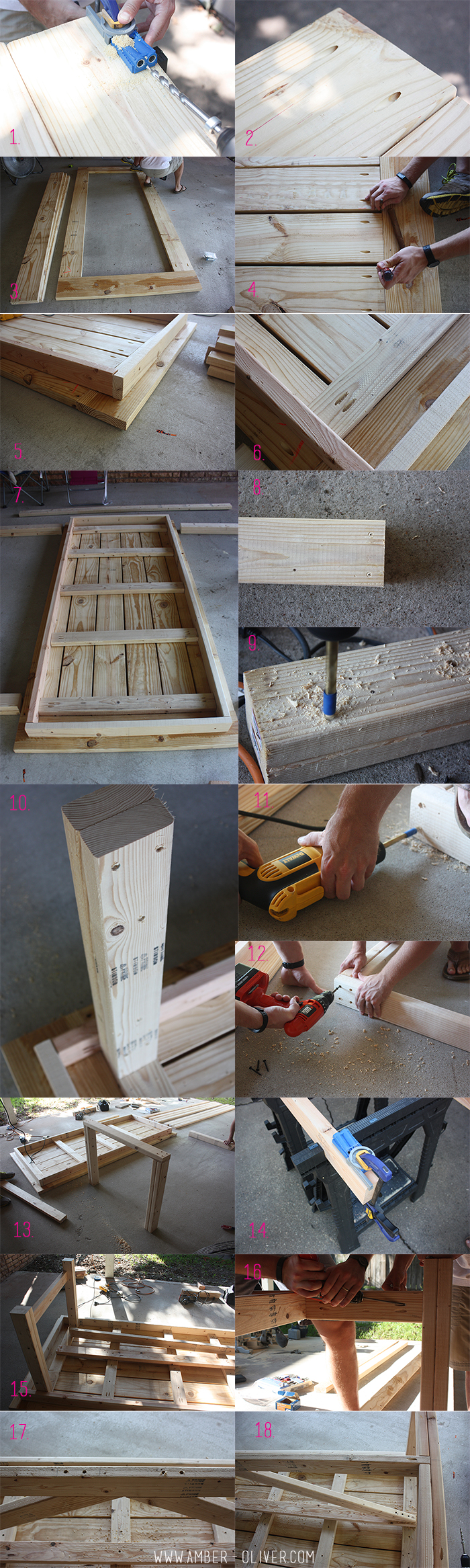 DIY patio table by Amber Oliver