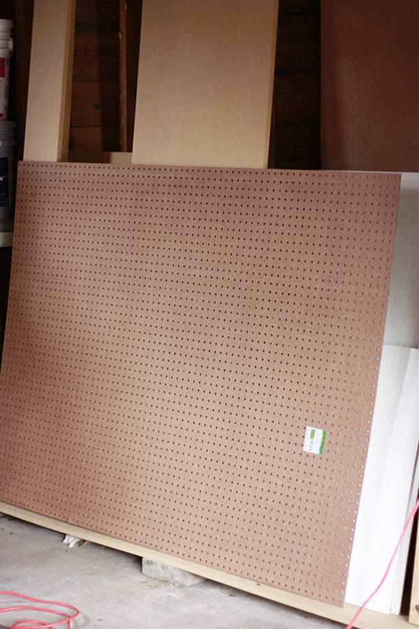 peg board before