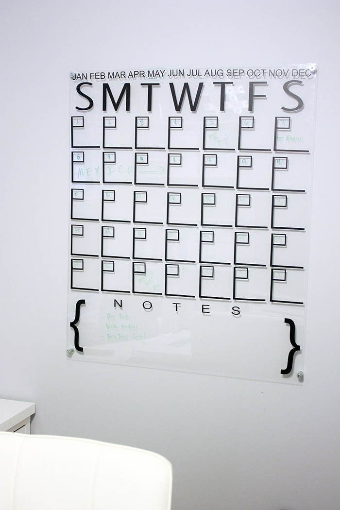DIY Acrylic Calendar