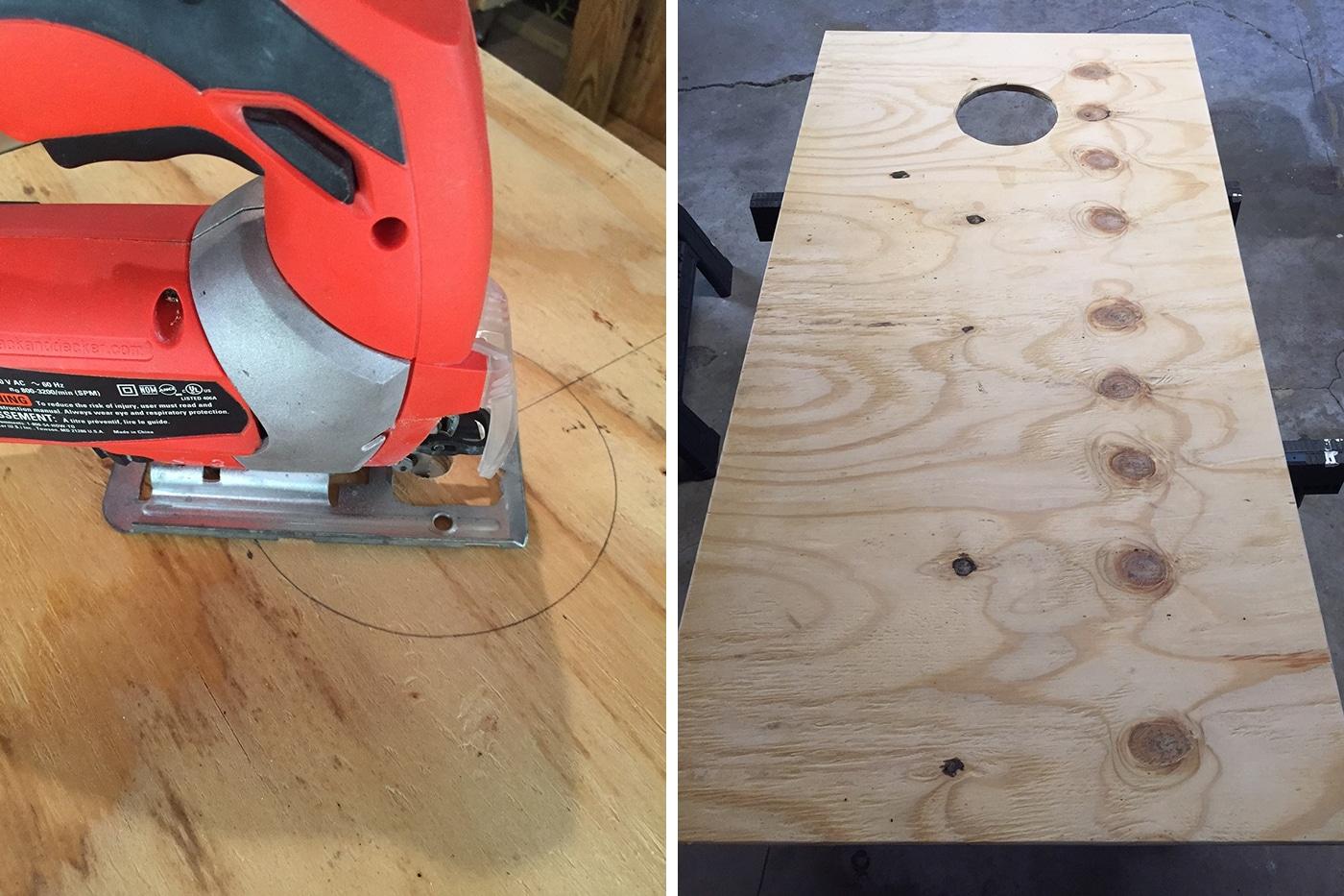 DIY Cornhole boards // Amber-Oliver.com