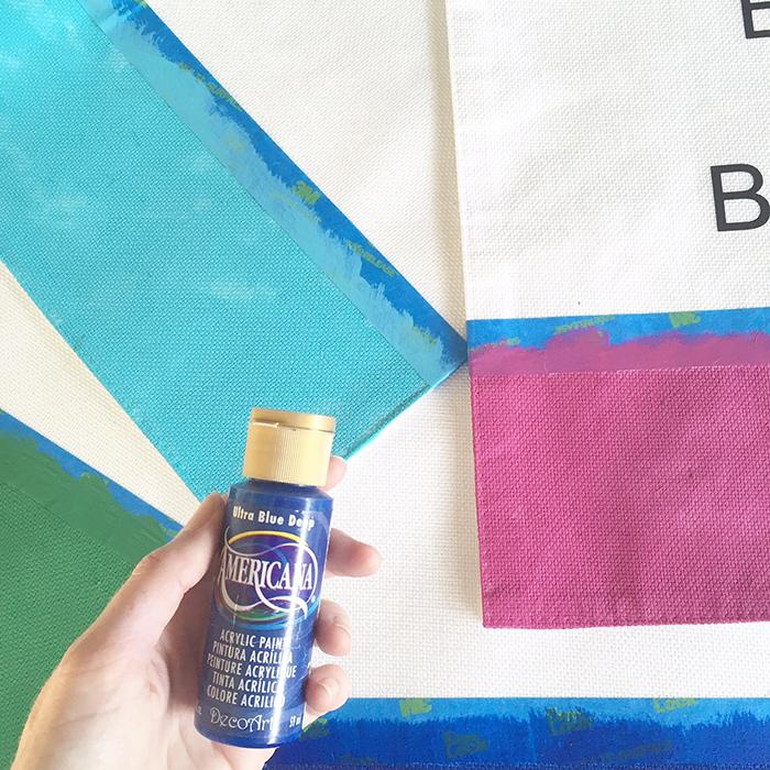 painting DIY kate spade placemats