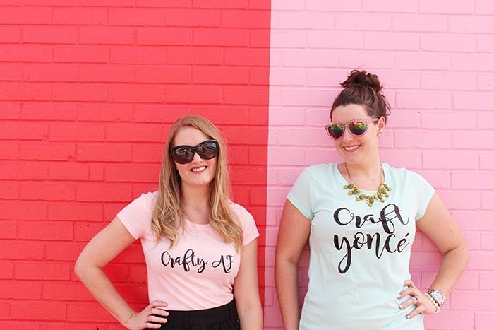 DIY Crafty T Shirts using heat transfer vinyl! // Amber Oliver