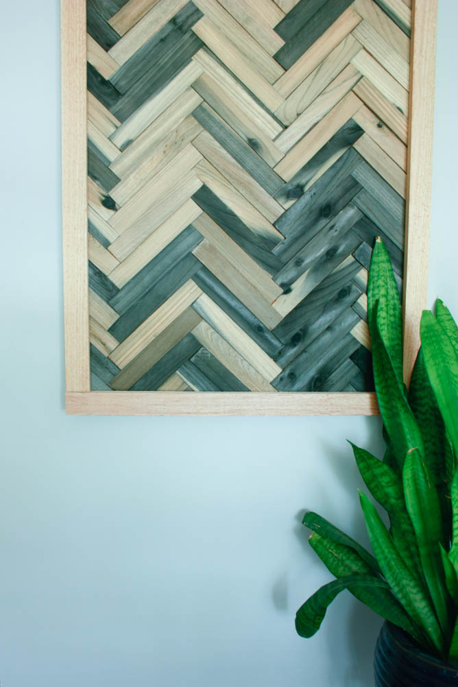DIY wall art using wood shims - DIY wood shims wall art - Wall art using wood shims. DIY wall art ideas that are cheap and easy!