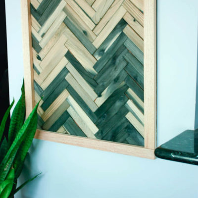 DIY Wall Art – Cheap and Easy Wall Art Using Wood Shims