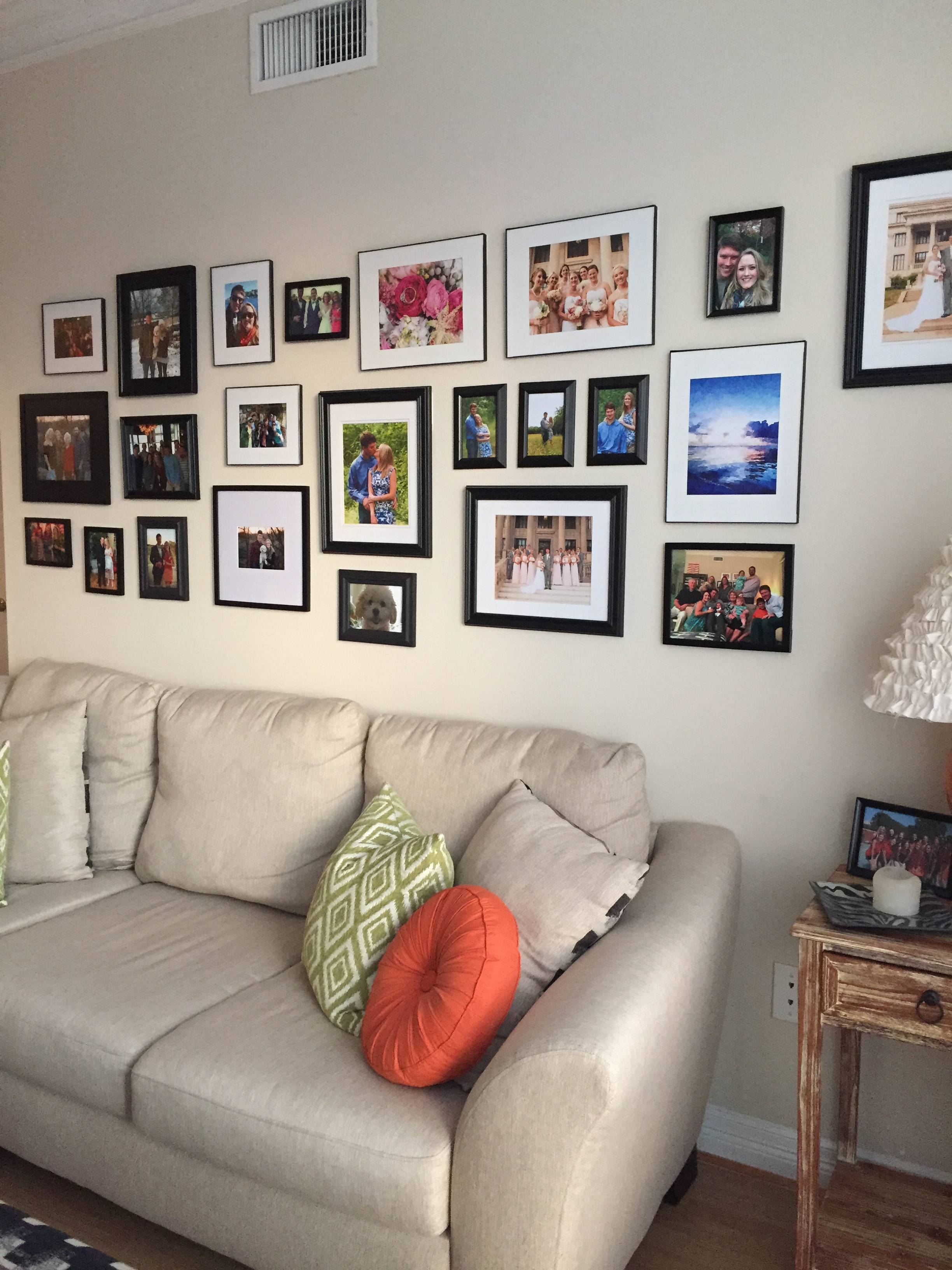 DIY Gallery Wall using in expensive frames
