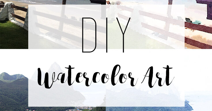 DIY watercolor art! Easy and inexpensive art.
