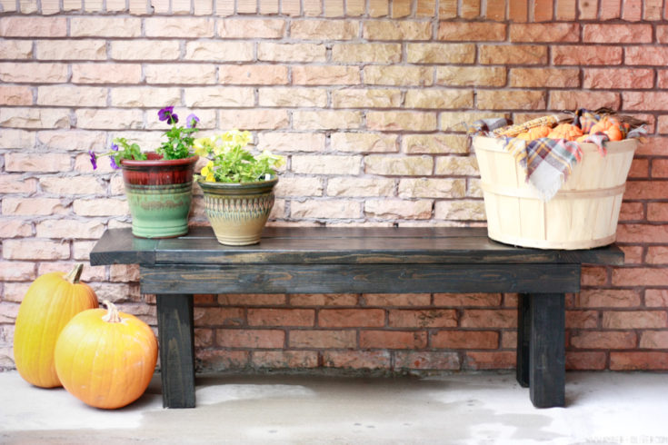 DIY Bench (free cut list!) - Quick and easy build for extra seating in your home or porch