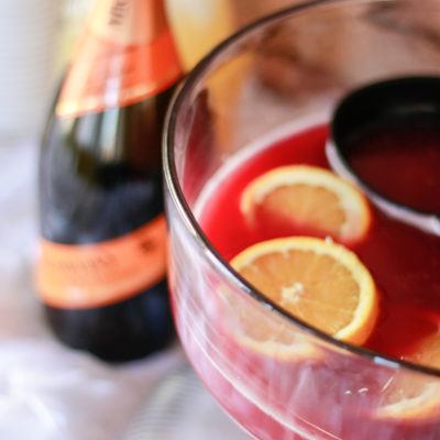 Holiday Prosecco Punch