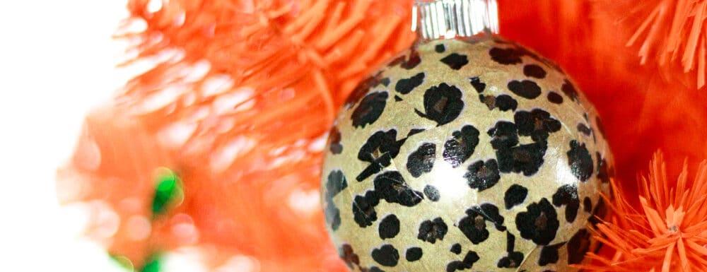 DIY Leopard Print Ornaments