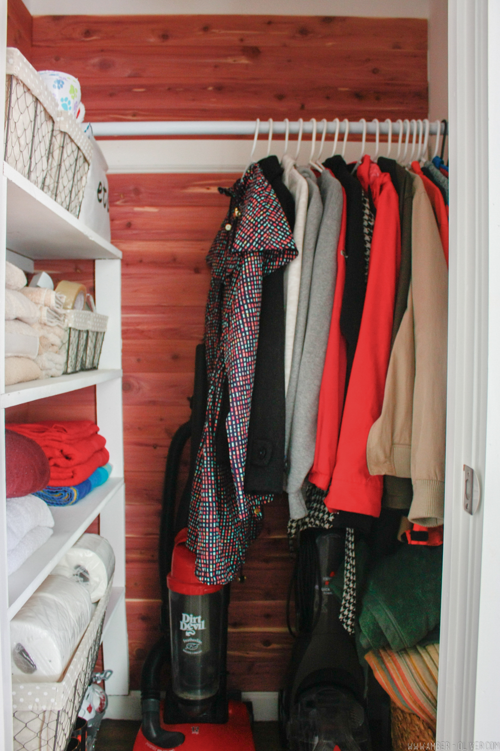 Full Shot Of A Closet With Cedar Lining