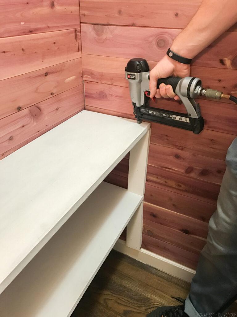 installing cedar closet lining