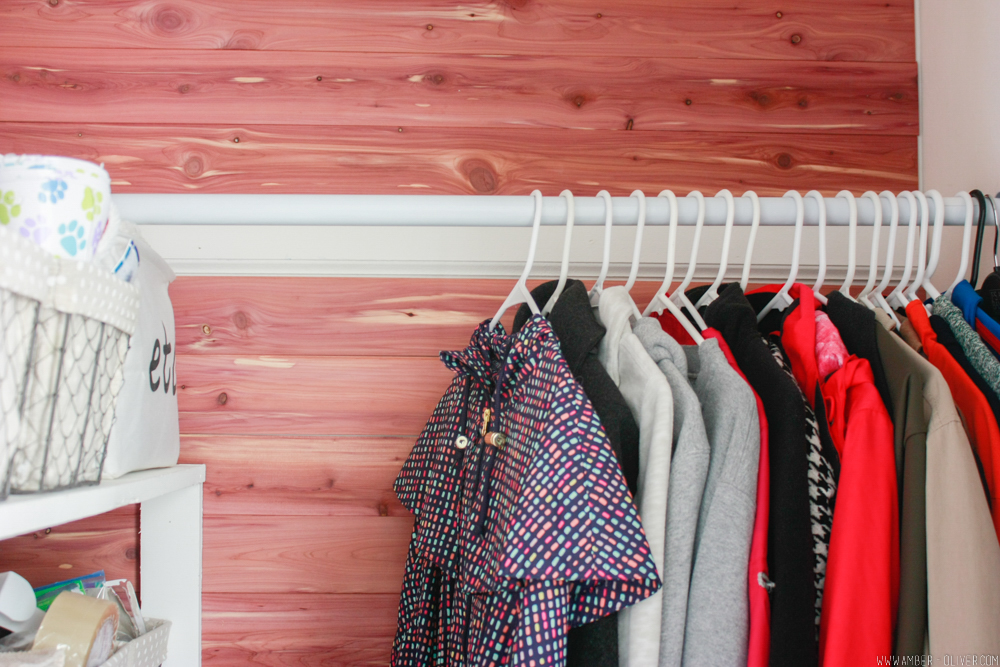 beautiful cedar closet lining and rack