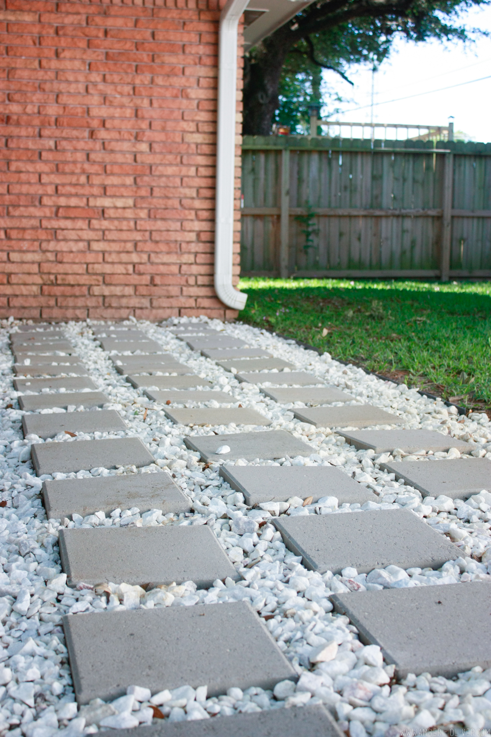 Backyard Update How To Lay Patio Pavers Amber Oliver