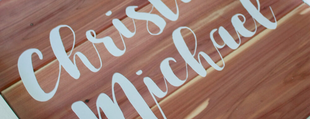 DIY Wood Sign - How to use scrap cedar planks!
