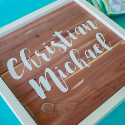 DIY Wood Sign – How to use scrap cedar planks!