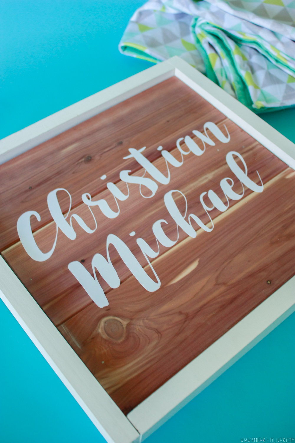 Diy wood sign how to use scrap cedar planks amber oliver