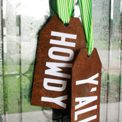 DIY Wood Door Hangers