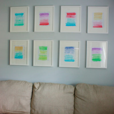 Watercolor Gallery Wall (DIY Wall Art)
