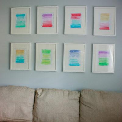 Watercolor Gallery Wall (DIY Wall Art)