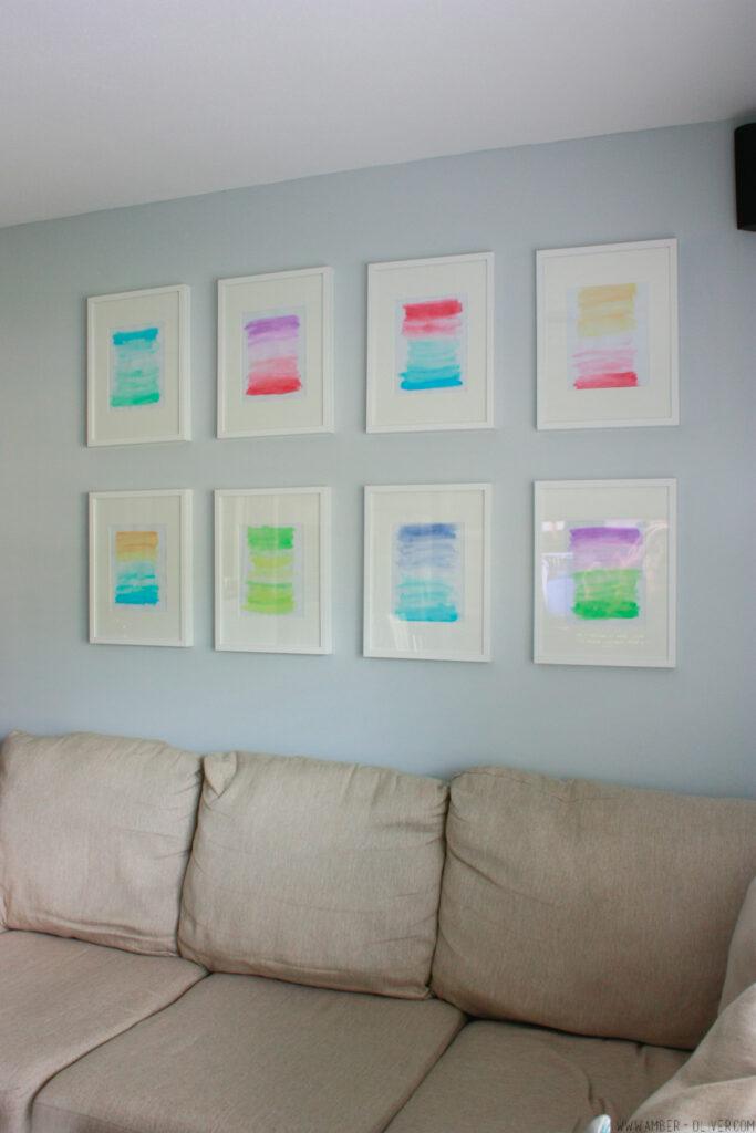 Ombre Watercolor Gallery Wall