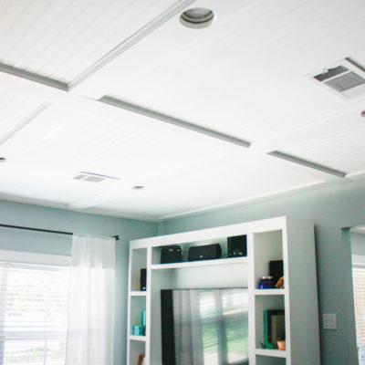 One Room Challenge: Week 5 – DIY Ceiling Makeover
